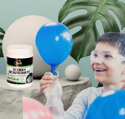 DIY Self-inflating Balloon - natural ingredients
