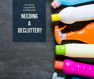 Declutter your cleaning cupboard