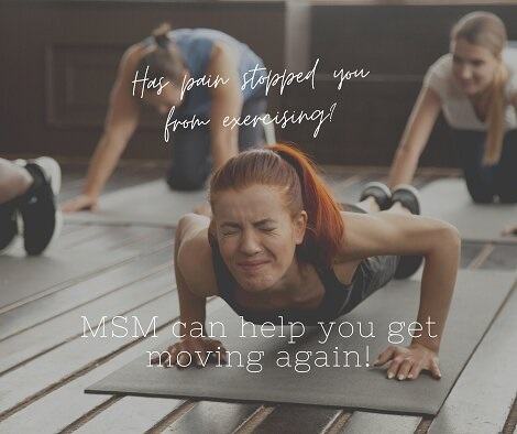 MSM helps with Exercise Pain