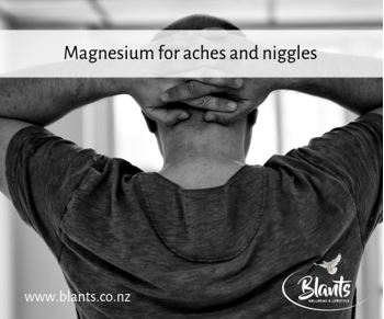 Magnesium for aches and niggles