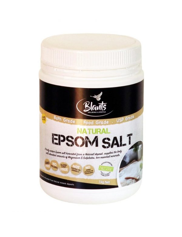 Buy Natural Epsom Salt online, Food Grade 1kg Australia.
