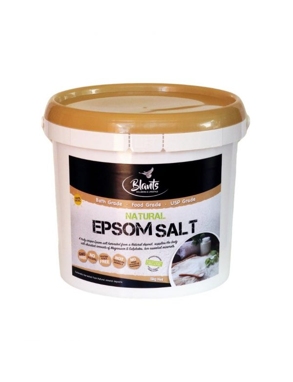 Buy Natural Epsom Salt Food Grade 5kg online in Australia.