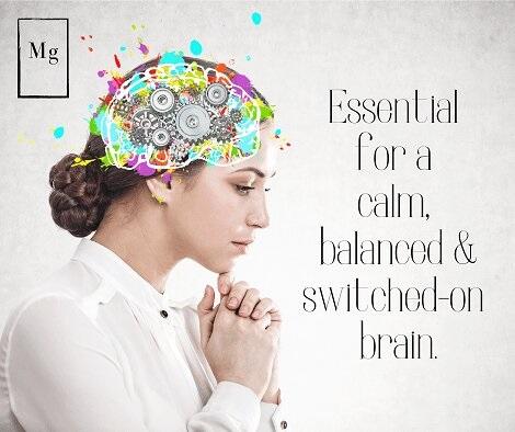 Calm balanced switched-on brain