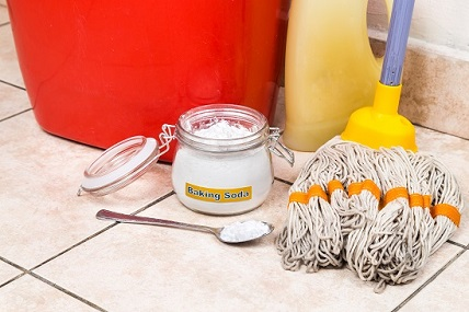 Bakin soda, bicarb, mop for house cleaning
