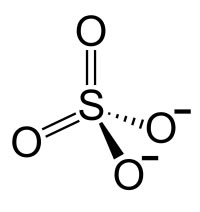 Sulphate ions